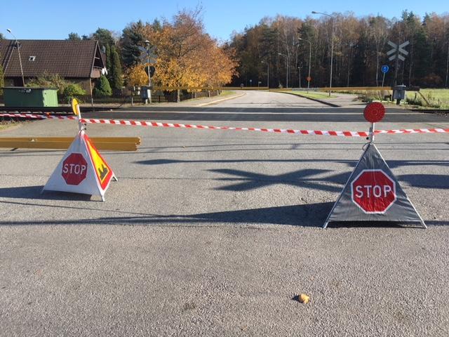 Lastbilsolycka drabbade tagtrafik